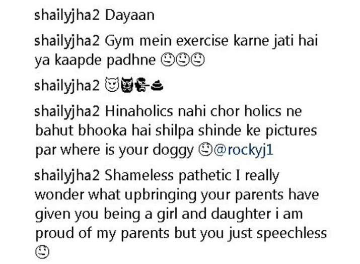 India Tv - Hina Khan comments