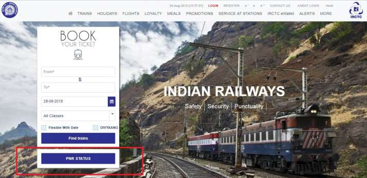 India Tv - How to check PNR status on IRCTC website