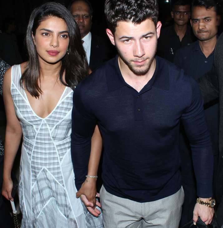 India Tv - Priyanka Chopra and Nick Jonas didn't shy away from the shutterbugs.