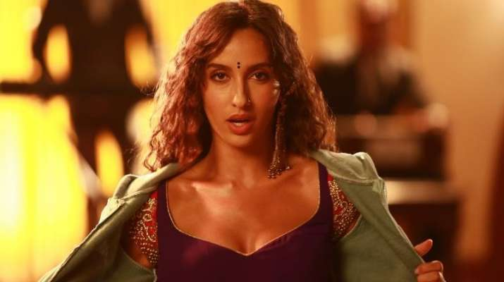 India Tv - Nora Fatehi in Stree song Kamariya