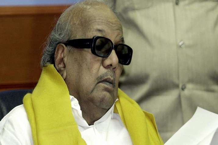 India Tv - Karunanidhi is known for his contributions to Tamil literature. His contributions cover a wide range: poems, letters, screenplays, novels, biographies, historical novels, stage-plays, dialogues and movie songs.