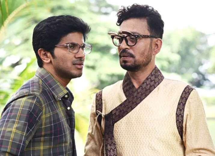 India Tv - Dulquer Salmaan and Irrfan Khan in Karwaan