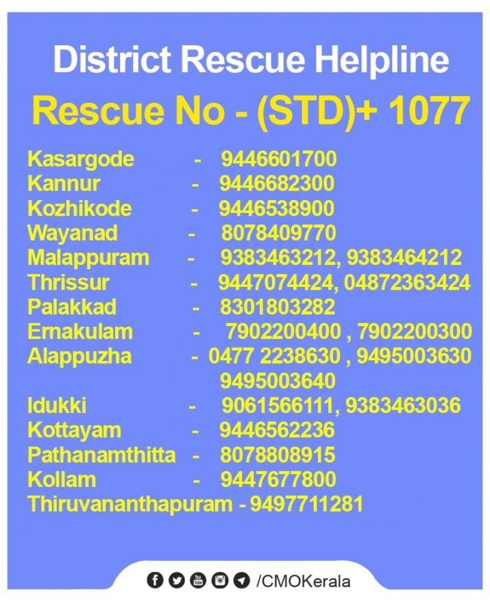 India Tv - The Kerala government has issued helpline numbers for the affected people.