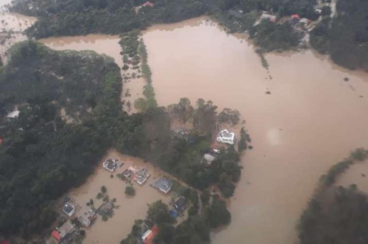 India Tv - Kerala's Pathanamthitta district submerged in flood water. (Photo/ANI)