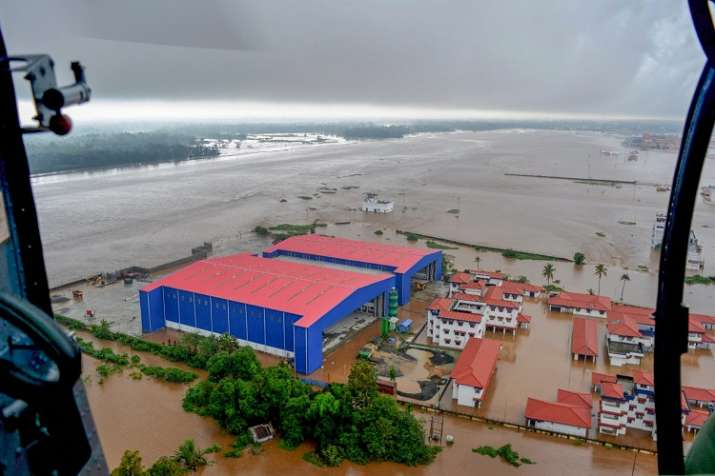 India Tv - The deluge has been described as the worst the region hs witnessed in 100 years. (Photo/PTI)