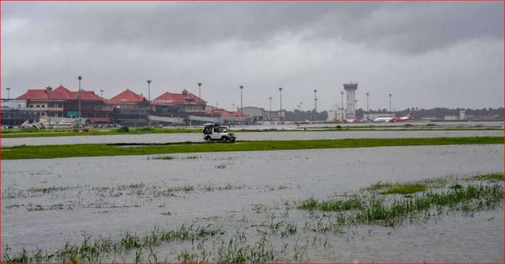 India Tv - Submerged area near Cochin International Airport after monsoon rainfall, in Kochi