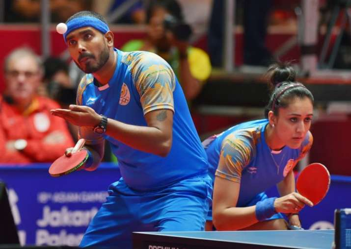 Asian Games  Indias Sharath Kamal Manika Batra Win Historic Bronze In Mixed Doubles Table Tennis Other News India Tv