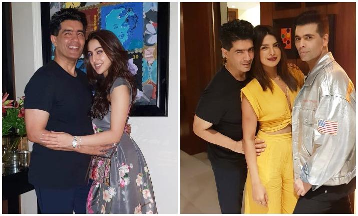 Priyanka Chopra, Janhvi Kapoor, Sara Ali Khan at Manish