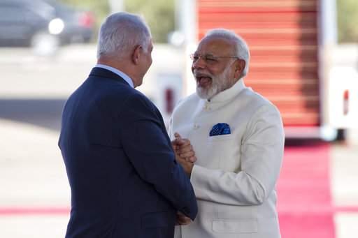 PM Narendra Modi with Prime Minister of IsraelBenjamin