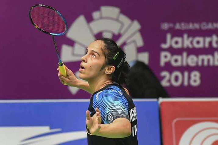 India Tv - Asian Games 2018: Saina Nehwal sails into quarter-finals of Women's Singles Badminton