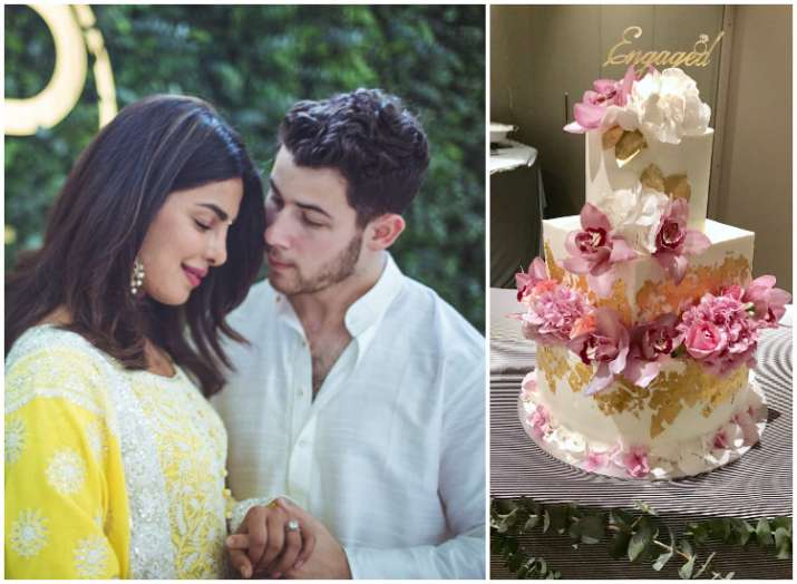 Priyanka Chopra And Nick Jonas Engagement Cake Doing Rounds On