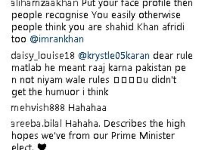 India Tv - Comments on Imran Khan's post