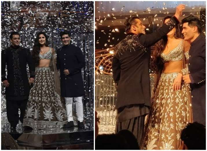 Image result for Salman Khan & Katrina Kaif Turn STUNNING Showstoppers For Manish Malhotra: See Pics