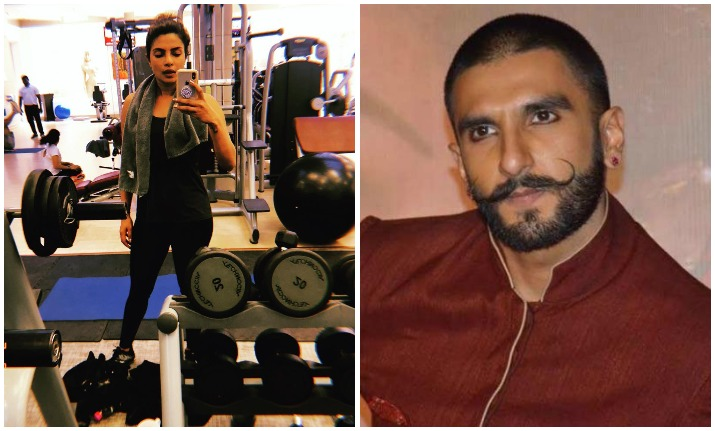 Ranveer Singh's comment on Priyanka Chopra's workout picture