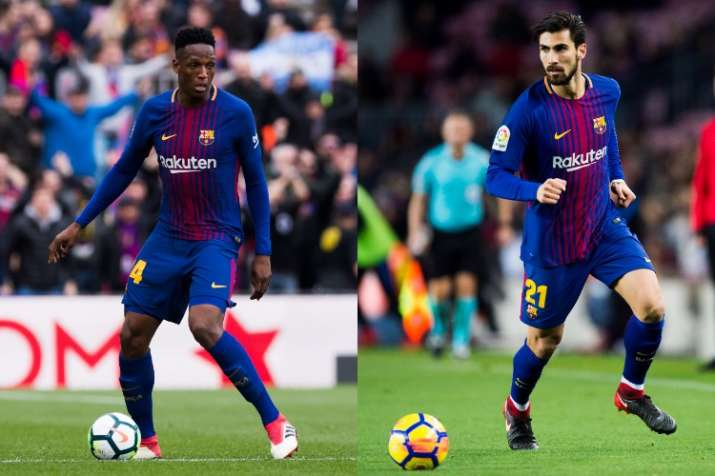 Epl Everton Complete Signing Of Yerry Mina Andre Gomes From Fc Barcelona Soccer News India Tv