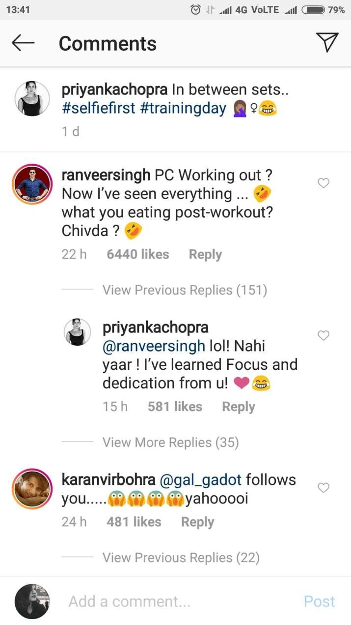 India Tv - Priyanka Chopra starts working out and Ranveer Singh is as surprised as we are!