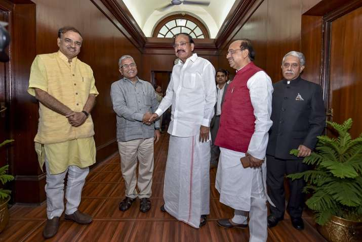 Newly-elected Deputy Chairman of the Rajya Sabha Harivansh