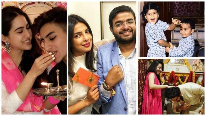 Calendar Rakhi : Priyanka chopra kartik aaryan celebrate raksha bandhan