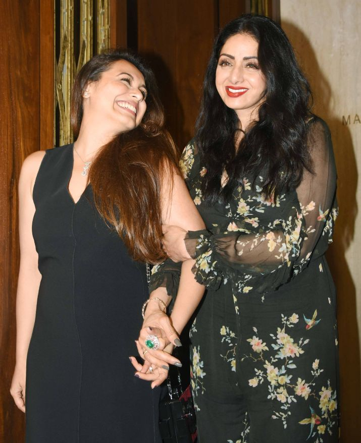 India Tv - Sridevi with Rani Mukerji at her last birthday.