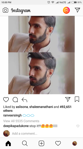 India Tv - Ranveer Singh has the sassiest comment for Deepika Padukone
