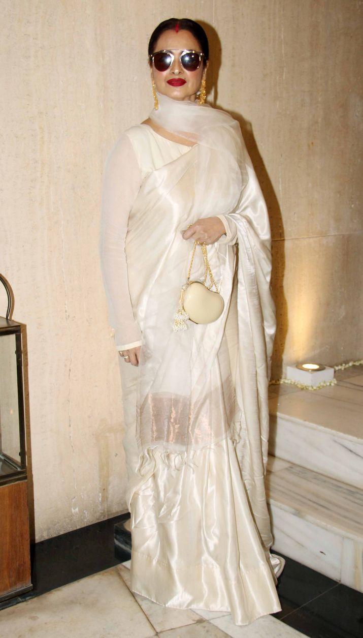 India Tv - Veteran actress Rekha at Sridevi's last birthday.