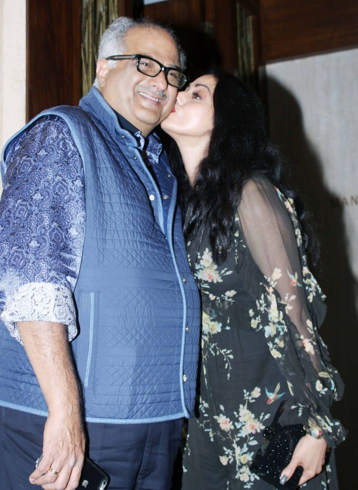 India Tv - Sridevi shared some romantic moments with husband Boney Kapoor at her birthday party.