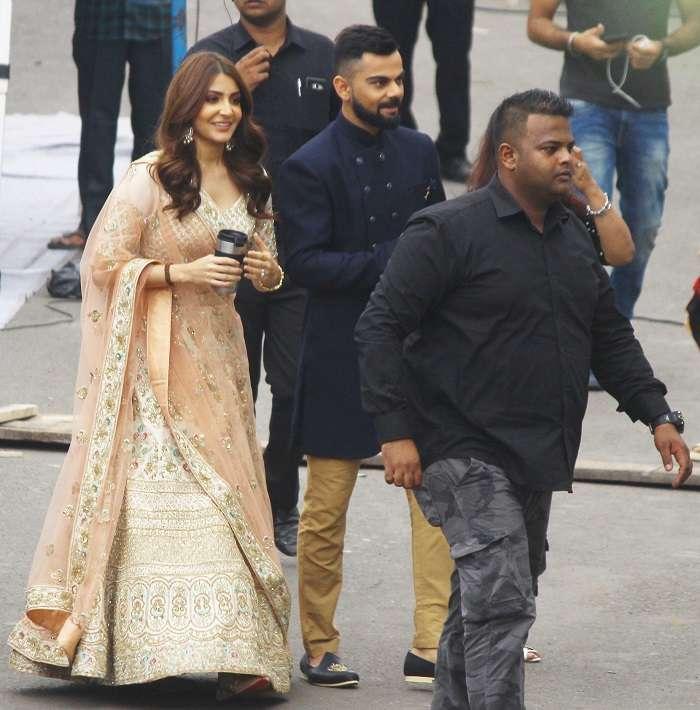 India Tv - Anushka Sharma and Virat Kohli at Film City