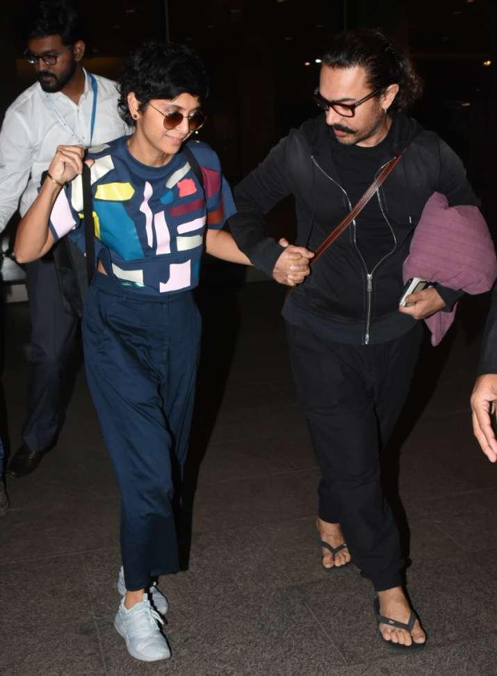 India Tv - Kiran Raowalks hand-in-hand with Aamir Khan