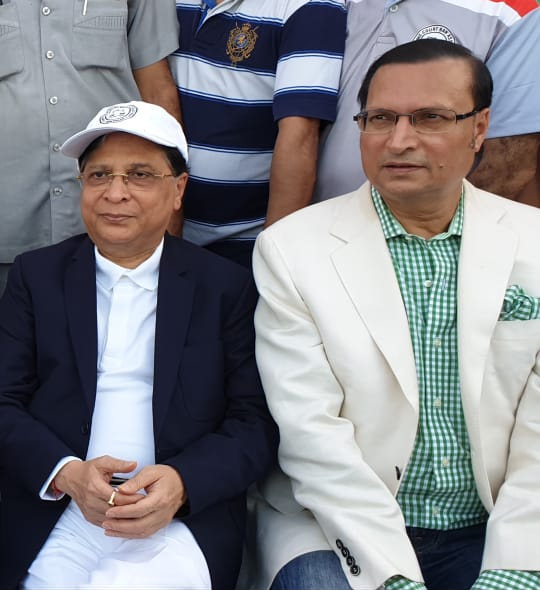 India Tv - Chief Justice of India Dipak Misra (L) watching the T20 match along with DDCA President Rajat Sharma