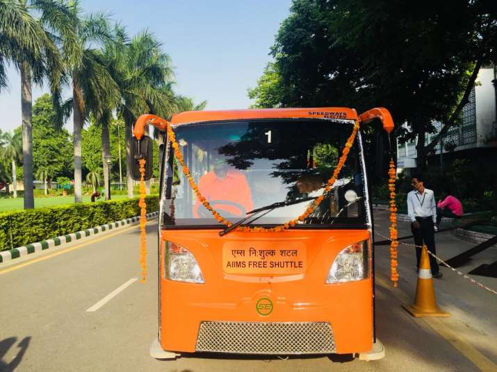 India Tv - Free-of-cost battery operated bus service at AIIMS