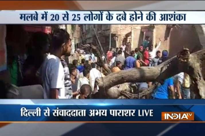 Delhi building collapse model town