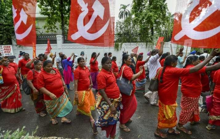 India Tv - Mazdoor Kisan Sangharsh Rally