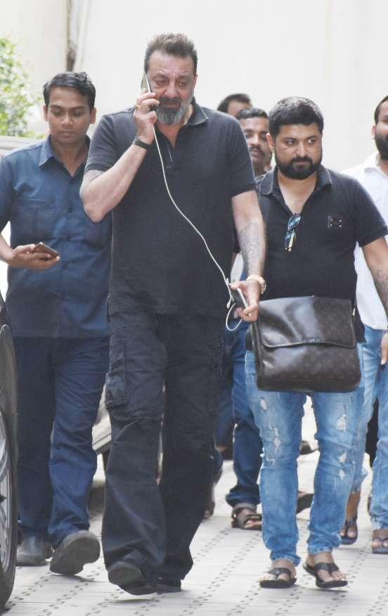 India Tv - Sanjay Dutt at Mahesh Bhatt's office