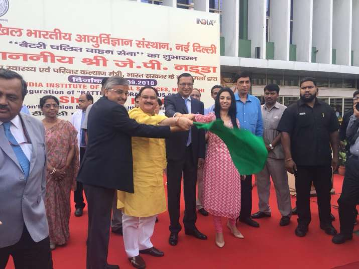 Battery operated bus service launched at AIIMS by Health