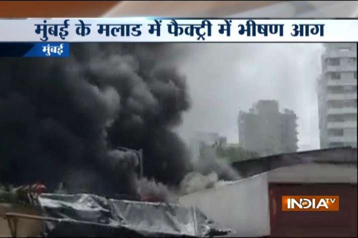 Mumbai Malad factory fire