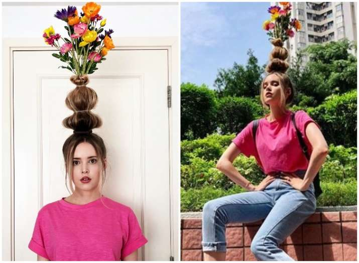 Hair Trends For Women Now Turn Your Hair Into A Vase Of Flowers
