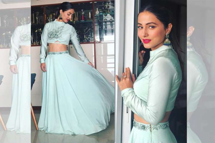 Bigg Boss Fame Hina Khan Flaunts Her Sheer Ethnic Look See Pictures