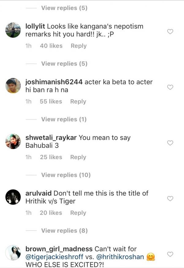 India Tv - Users comment on Hrithik's post