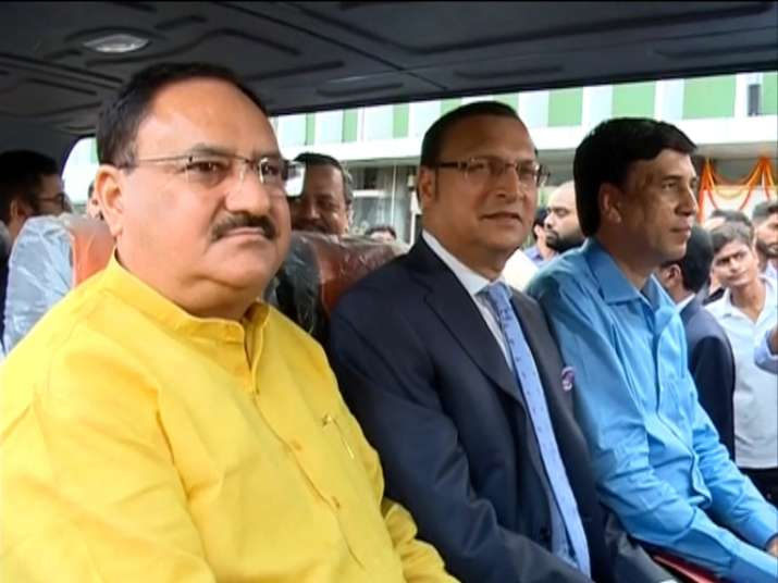 India Tv - Battery-operated bus service launched at Delhi's AIIMS