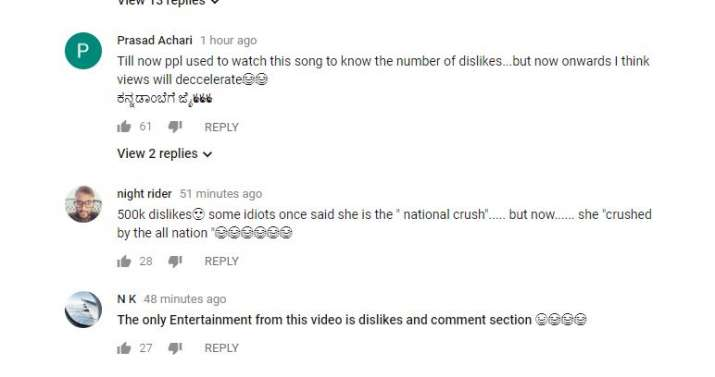 India Tv - Freak Penne's YouTube comments