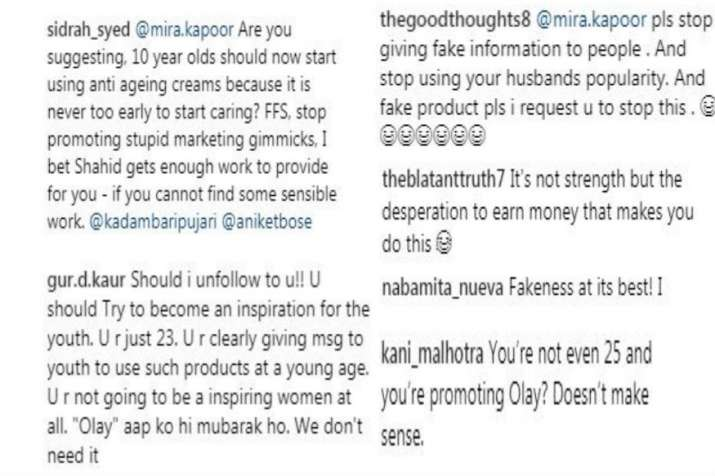 India Tv - Comments on Mira Rajput's post