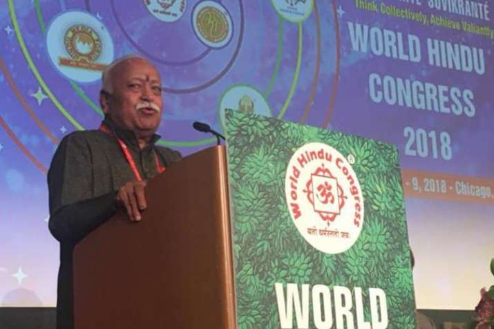 """We have to come together,"" Bhagwat said, noting that all"