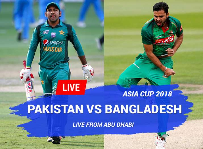 Live Cricket Online, Asia Cup, Pakistan vs Bangladesh