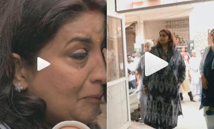 smriti irani visits first house video