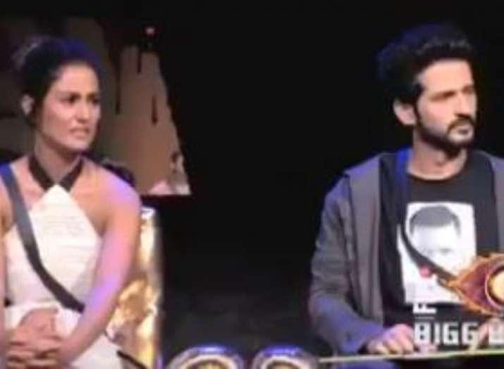 Hiten Tejwani and Hina Khan on Bigg Boss 12