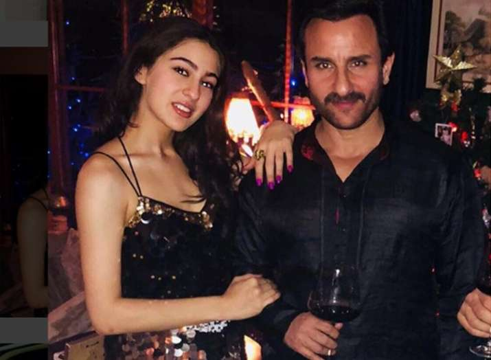 India Tv - Sara Ali Khan and Saif Ali Khan