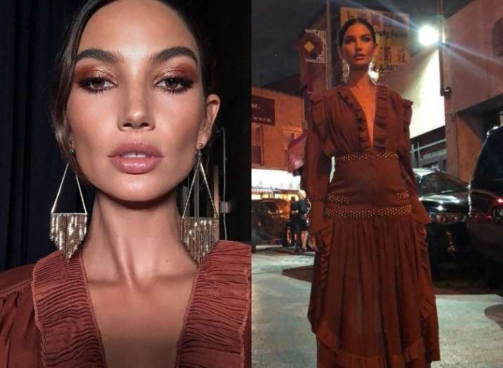 Five Months Pregnant Supermodel Lily Aldridge Walked The Runway At The New York Fashion Week