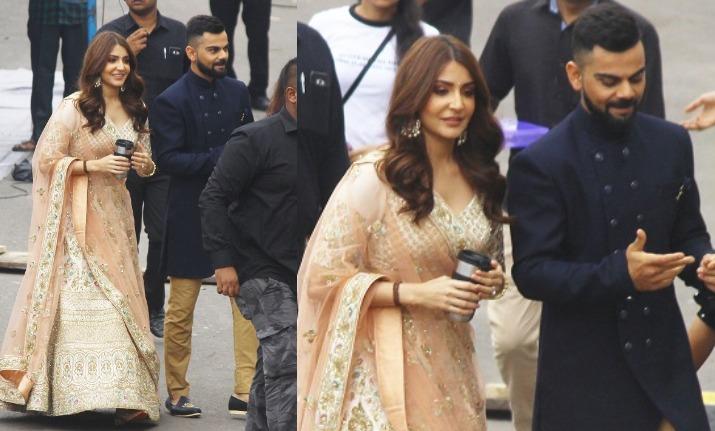 Anushka Sharma spotted with husband Virat Kohli post an ad