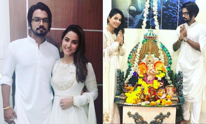 Former Bigg Boss Contestant Hina Khan Celebrates Ganesh Chaturthi