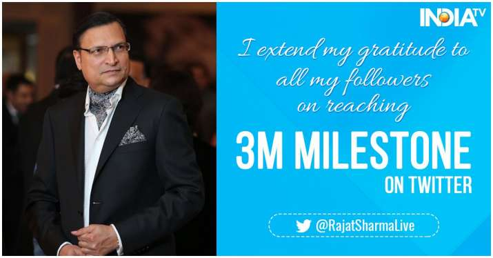 India Tv - India TV Editor-in-Chief Rajat Sharma thanked his followers for their love and affection